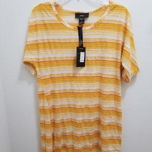 (NWT) RAIN Yellow & White Striped Top